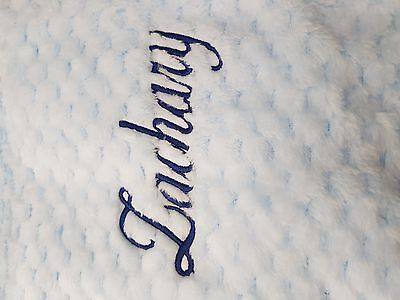 Personalised  embroidered BABY WAFFLE BLANKET & comforter set luxury new 2020 5
