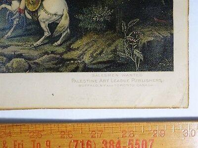 SUPER RARE Lithograph Print- Jerusalem 1903 by Palestine Art League Buffalo NY 4