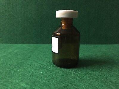 alte Apothekerflasche Braunglas OL FOENICULI Kunstoffstopfen Höhe 80 mm 60 Gramm 2
