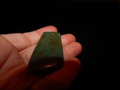 Pre-Columbian Blue Jade Ceremonial Pendant, Translucent Jade, Gemstone Quality 8