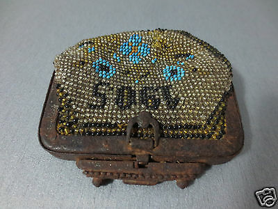 Antique Year 1905 Glass beads Coins PURSE Karakachans-Greece Macedonian RARE 4