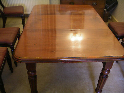 Victorian mahogany wind out dining table. Lovely patina 8