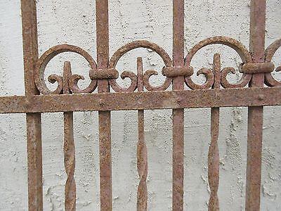 Antique Victorian Iron Gate Window Garden Fence Architectural Salvage Door #709 6
