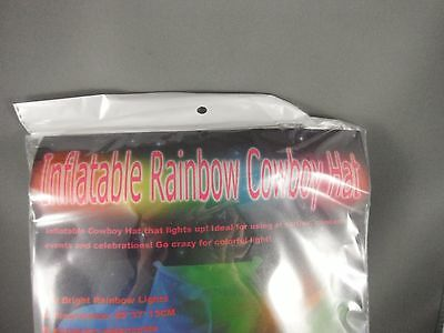 Inflatable Flashing Rainbow Cowboy Hat