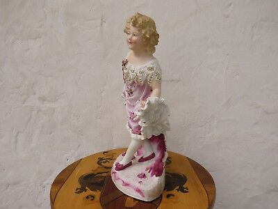 "Gebruder Heubach Hand Painted Dancing Girl Bisque Piano 15.5"" Figurine (c.1900) 7"