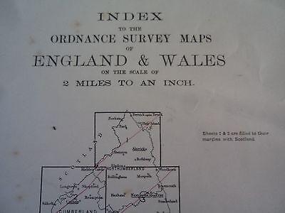 Ordnance Survey Index 2 mile maps 1910? London Canterbury Newcastle Norwich Wem 2