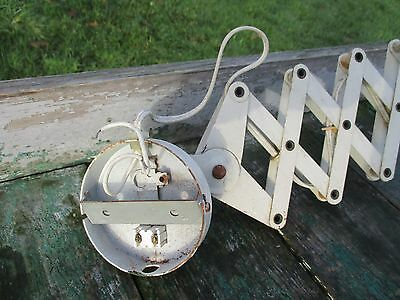 Vintage Industrial Machine Age Scissor Wall Lamp Expanding Mounted Adjustable 6