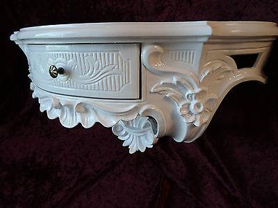 Wall Console Antique/Spiegelkonsolen/Baroque White High Gloss B: 50cm cp84 12