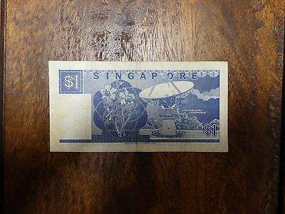 Singapore $1 One Dollar banknote 1987