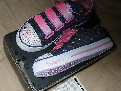"Skechers Girl's Twinkle Toes Limited Edition Sz1.5 NWB. 10959L/DNPK 9"" IN LENGTH 5"