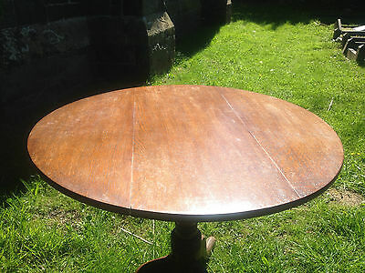 Antique GEORGIAN GEORGE III Oak Snap Tilt Top Tripod Table c1780OccasionalDining 4