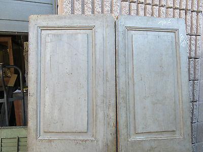 """pAIR ~ LATE 19th century antique furniture CABINET DOORS 74.5"""" x 21"""" & 18.25"""" 7"""