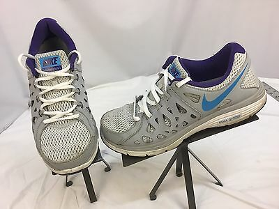 WOMENS NIKE DUAL FUSION RUN 3 653594 007 SIZE 7 EUC BLACK AQUA PURPLE | eBay