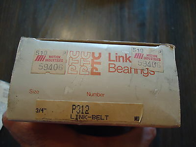 "New Link Belt Bearings 3/4"" Nod Part# P312 Made In Usa 3"