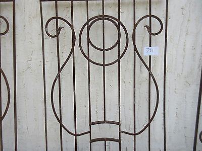 Antique Victorian Iron Gate Window Garden Fence Architectural Salvage #791 3