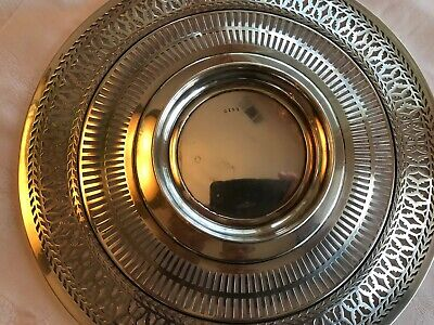 """Antique Sterling Silver Watson Co Reticulated Sandwich Plate Tray 9.5"""" Stunning 7"""