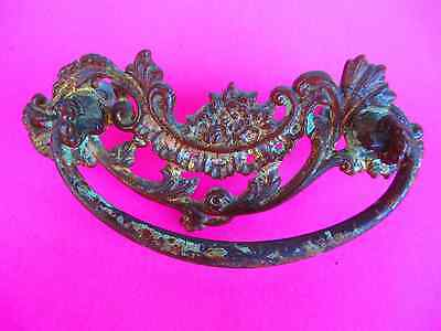 4 Antique set of ( 4 ) matching  /  Ornate Victorian Brass - FOUR - Draw Pulls 3