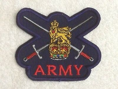 Badges Various Choices British Army Units Sew On Embroidered Biker Patches