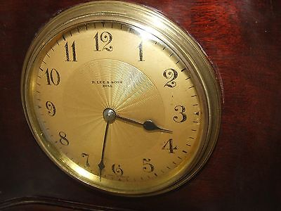 Antique Mahogany Bracket Mantel Clock : H. LEE & SONS HULL (a76) 5