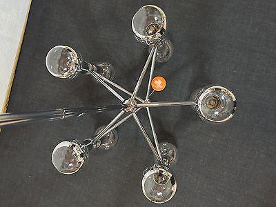 KINKELDEY Space Age ATOMIC Chandelier Pendant Lamp Fermigier Era Verre Lumiere 10 • CAD $1,864.80
