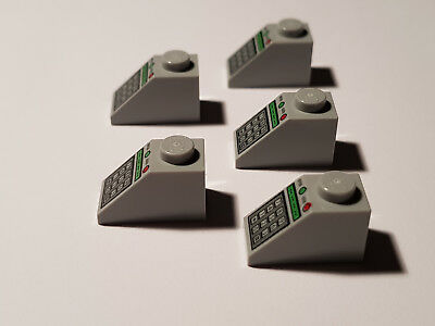 """3040pb010 LEGO® 4x Schrägstein 1x2 bedruckt /""""Tastatur/"""" hellgrau 4228198"""