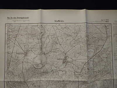 Landkarte Meßtischblatt 3155 Staffelde i.d. Neumark / Staw, Kreis Soldin, 1945