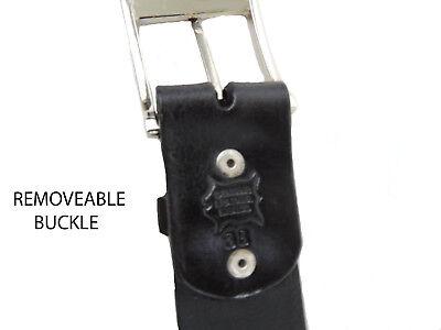 "Basket Wave Men's Leather Work Belt 1 3/4"" Hand Made Heavy Duty Sizes: 32-52 2"