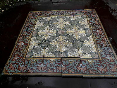 tiles victorian ceramic sand feignies perusson boch metlach boulenger 1900 5