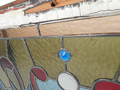 Vintage English Stained Glass Hanging Window (3130)NJ 5
