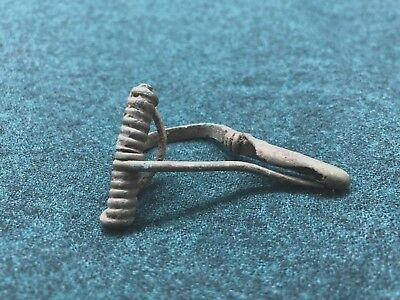 Antique Bronze Clasp Brooch 8