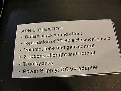 TOM'S LINE ENGINEERING APN-3 Plexion Brit Stack Simulator Guitar Effects  Pedal