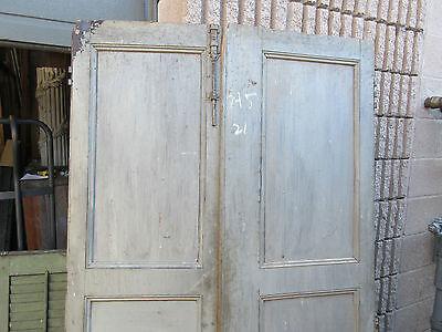"""pAIR ~ LATE 19th century antique furniture CABINET DOORS 74.5"""" x 21"""" & 18.25"""" 2"""