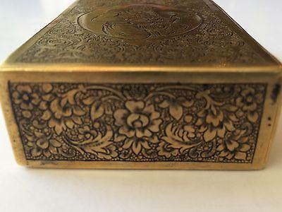 Classic Cigarette Box - 19th Ct. Persian Qajar - Signature Brass Engraved Design 3