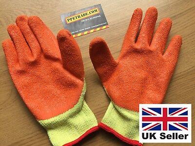 10 Pairs Rubber Safety Gripper Gloves Mens Builders Gardening DIY Work Gloves 3