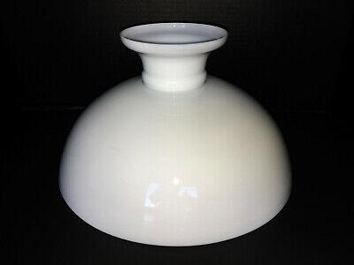 """VTG Danish White Milk Glass Aladdin Kerosene Hurricane Oil Lamp Shade 13"""" Fitter 2"""