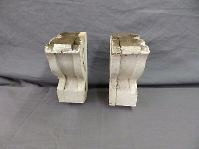 Antique Pair Wood Small Corbel Victorian Architectural Shabby Vtg Chic 506-17P 9