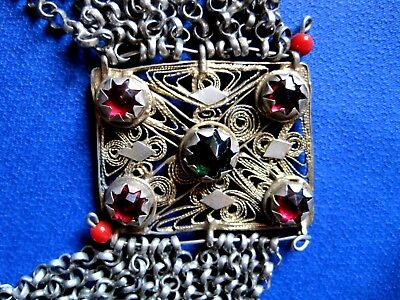 OTTOMAN SILVER Adornment KYUSTEK or PENDANT & STONE , Hand crafted chains 4