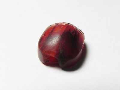 Zurqieh -Cy53- Ancient Egypt , Beautiful Carnelian Scarab. New Kingdom .1400 B.c 5