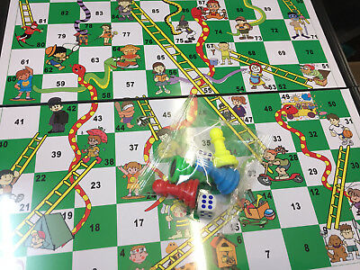 Snakes & Ladders OR Ludo Traditional Travel Family Board Game Kid Adult 18x18cm 3