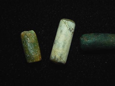 Pre-Columbian Jade Tubular Beads, Set of 3, Authentic,Very Rare, Costa Rica 2