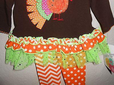 TODDLER  FALL THANKSGIVING TURKEY DRESS /& LEGGING  SET JESSICA ANN BABY