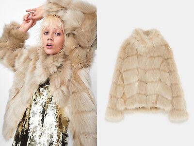 Fell Fur Faux Jacke Kunstpelz Mantel Short Zara Outerwear e2WDHYEb9I