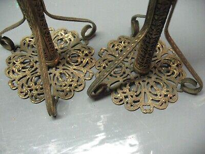 Vintage   Arabesque  Candlesticks    Filigree  Ornate  Hand Made Artisan Craft 7