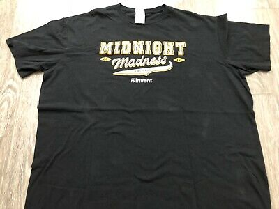 AMAZON Web Services AWS:re:PLAY Midnight Madness T Shirt 2XL Used 5
