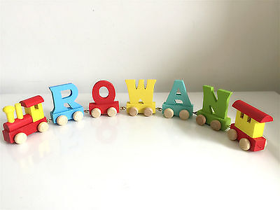 Alphabet Wooden Colourful Train letters for Personalized name as Children Gift 6