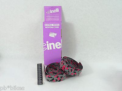 9e82dc1bb2a ... Cinelli handlebar tape cork vintage grey black pink camouflage Bike NOS  4