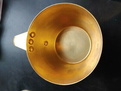 Rare Ancient Greek Mycenaean Art Replica Gold Bull Cretan Cup Hand Made Greece 10