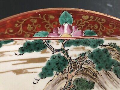 Antique Japanese Kutani Ware Hand Painted Dish Meiji Period 19th Century 3