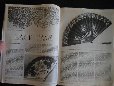 Antiques Journal Cameo Glass of Stevens & Wallace English Lace Fans Franklin