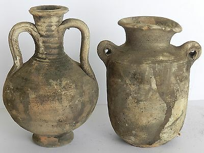 Biblical Ancient Antique Holy Land Roman Herodian Pottery Clay Wine Jugs Pitcher 4